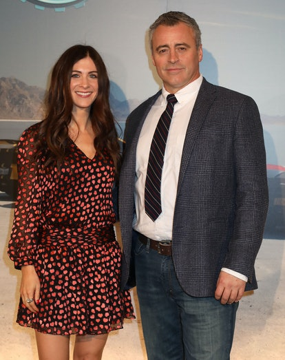 Matt Le Blanc and Aurora Mulligan arriving for a screening of Top Gear series 25 at the May Fair Hotel in London. (Photo by Philip Toscano/PA Images via Getty Images)