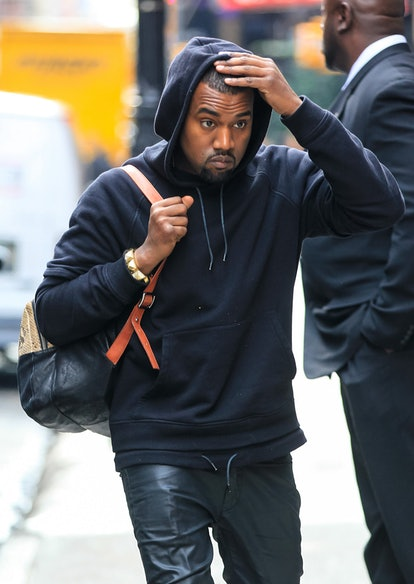 Celebrity Gemini Kanye West spotted out in New York City.