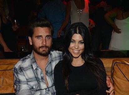 Scott Disick and Kourtney Kardashian saw each other at his 38th birthday party.