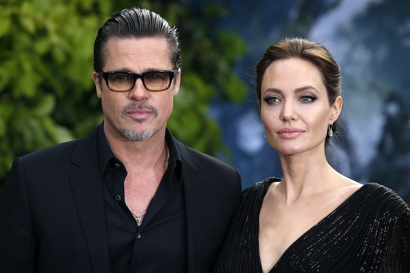 Brad Pitt and Angelina Jolie attending the premiere of Maleficent at Kensington Palace, London.   (Photo by Justin Tallis/PA Images via Getty Images)