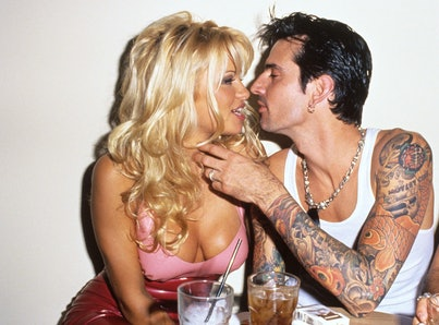 Pamela Anderson and Tommy Lee (Photo by S. Granitz/WireImage)