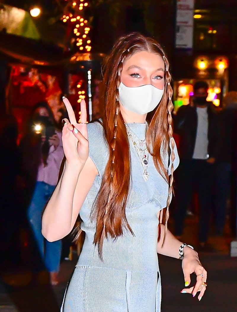 NEW YORK, NY - APRIL 23:  Gigi Hadid is seen at her birthday party in NoHo on April 23, 2021 in New York City. (Photo by Raymond Hall/GC Images)