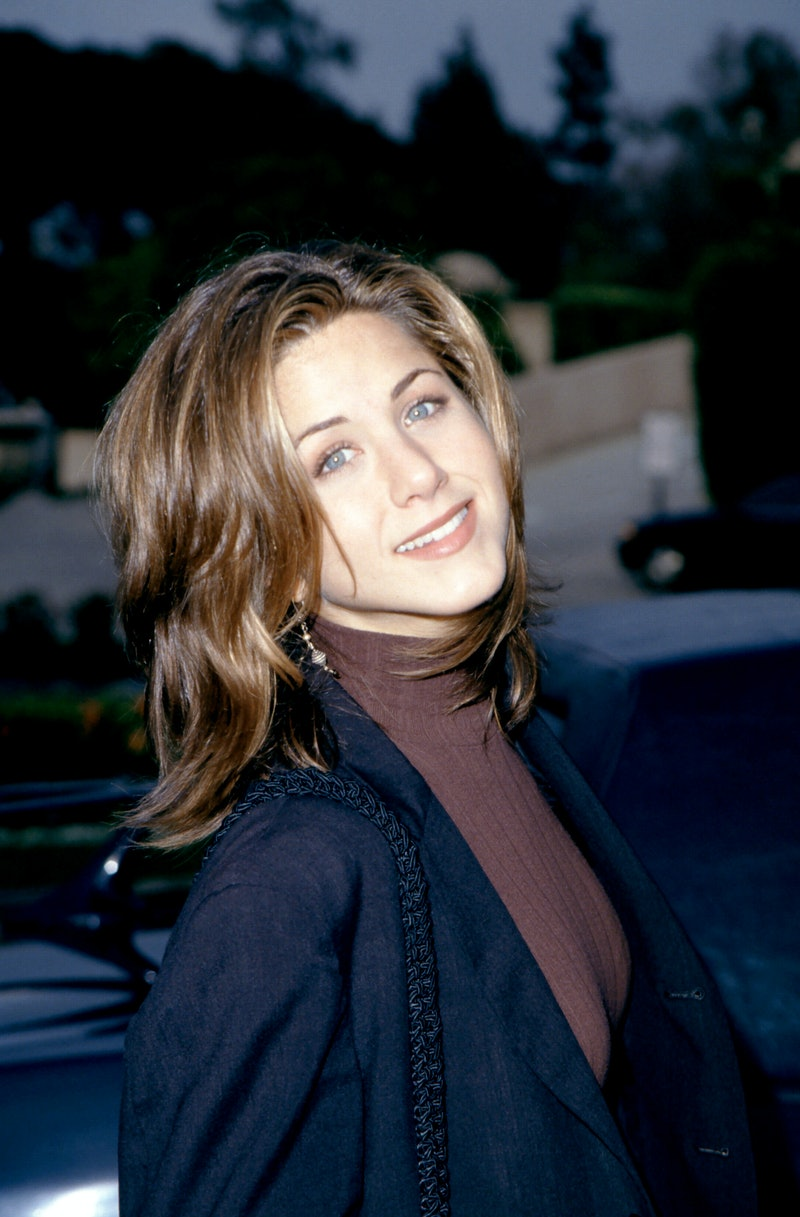 1995:  American actress Jennifer Aniston, of the television comedy, Friend's poses for a portrait circa 1995.  (Photo by Ron Davis/Getty Images)