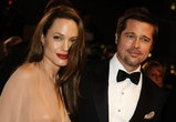 Brad Pitt and Angelina Jolie. (Photo by Eric CATARINA/Gamma-Rapho via Getty Images)