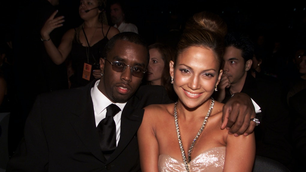Sean 'Puffy' Combs with Jennifer Lopez in the audience at the 1st Annual Latin Grammy Awards broadcast on Wednesday, September 13, 2000 at the Staples Center in Los Angeles, CA.  Photo credit: Kevin Winter/ImageDirect
