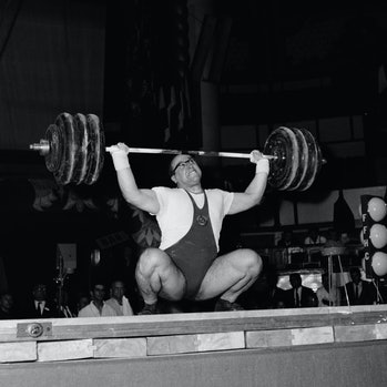 Soviet weightliter Yuri Vlasov. Vlasov was heavyweight Olympic Champion in 1960.   (Photo by Universal/Corbis/VCG via Getty Images)