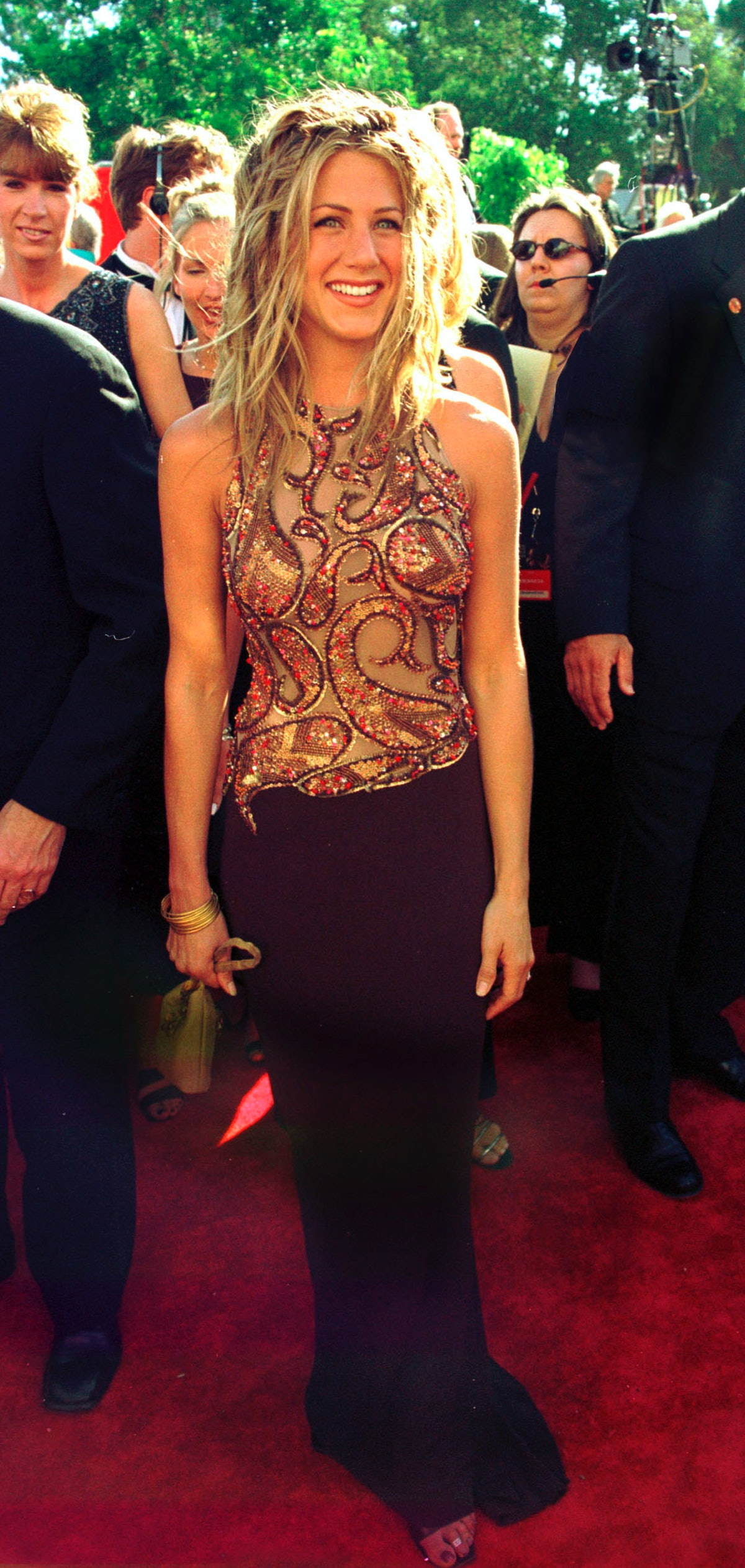 P 368495 01: Actress Jennifer Aniston arrives for the 51st Annual Primetime Emmy Awards at the Shrin...