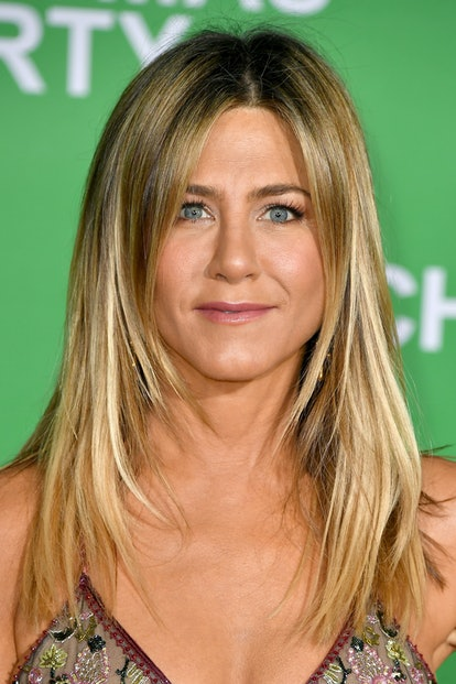 """WESTWOOD, CA - DECEMBER 07:  Actress Jennifer Aniston attends the premiere of Paramount Pictures' """"Office Christmas Party"""" at Regency Village Theatre on December 7, 2016 in Westwood, California.  (Photo by Steve Granitz/WireImage)"""