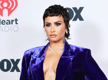 LOS ANGELES, CALIFORNIA - MAY 27: (EDITORIAL USE ONLY) Demi Lovato attends the 2021 iHeartRadio Musi...