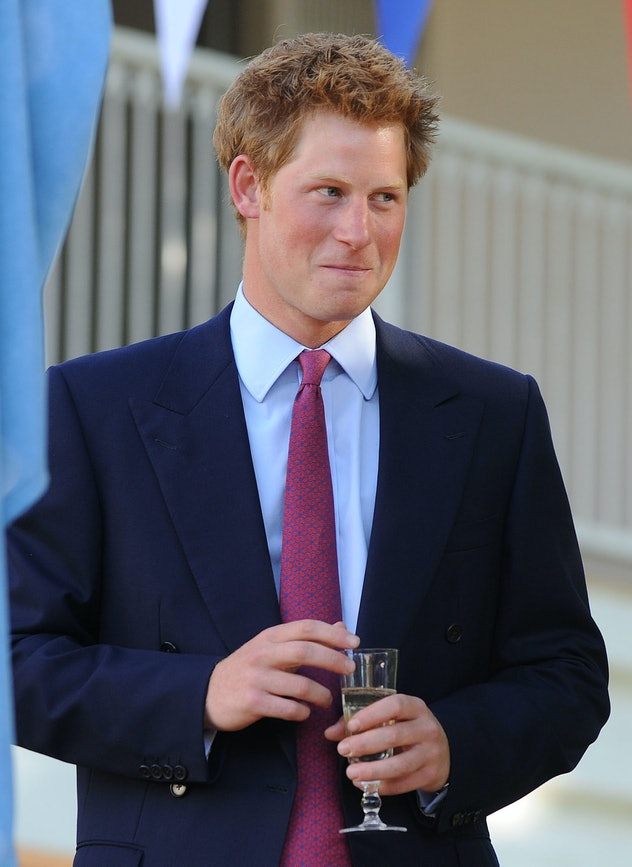 Prince Harry joined the party.