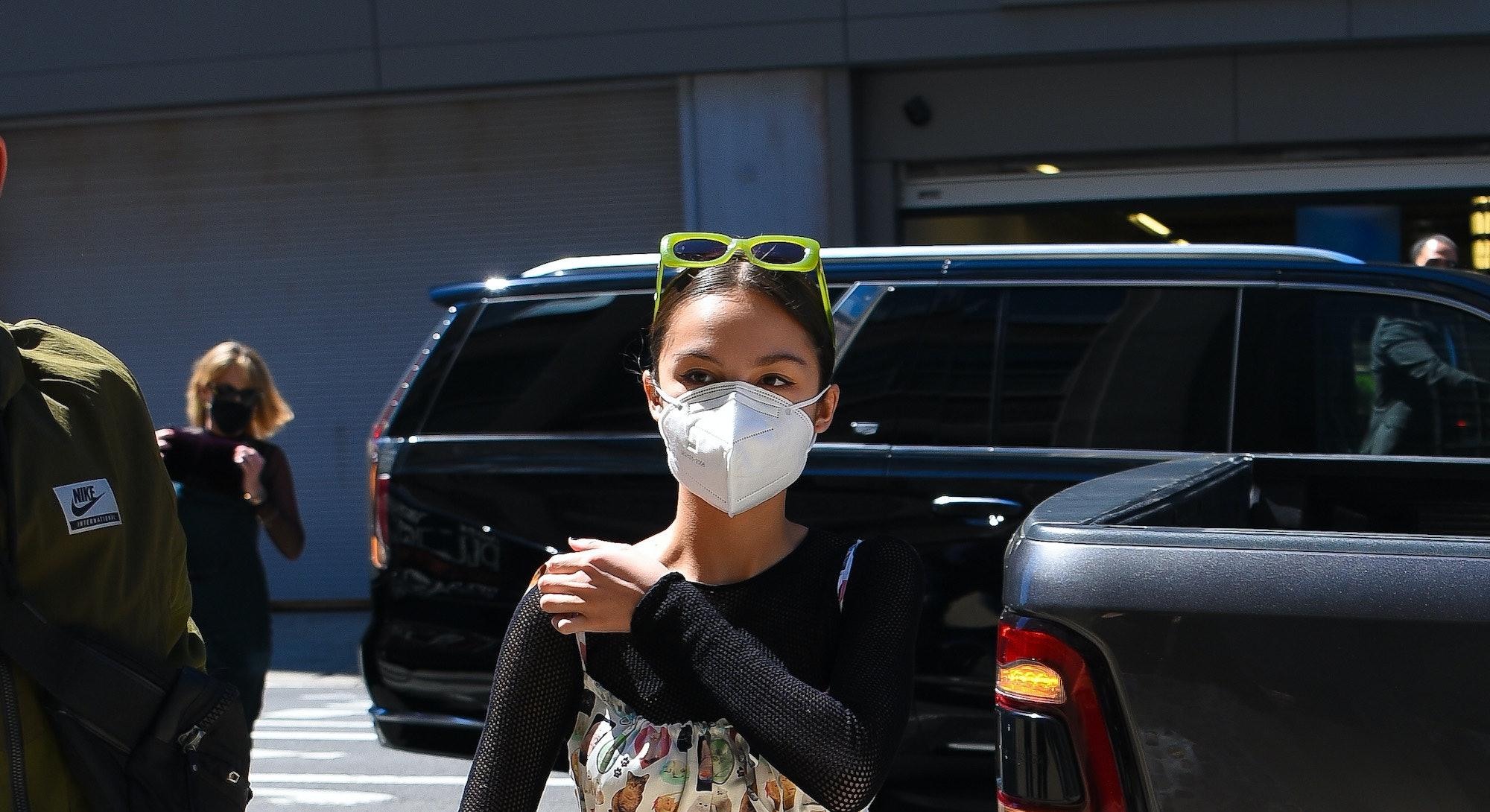 NEW YORK, NEW YORK - MAY 14: Olivia Rodrigo is seen in Manhattan on May 14, 2021 in New York City. (...