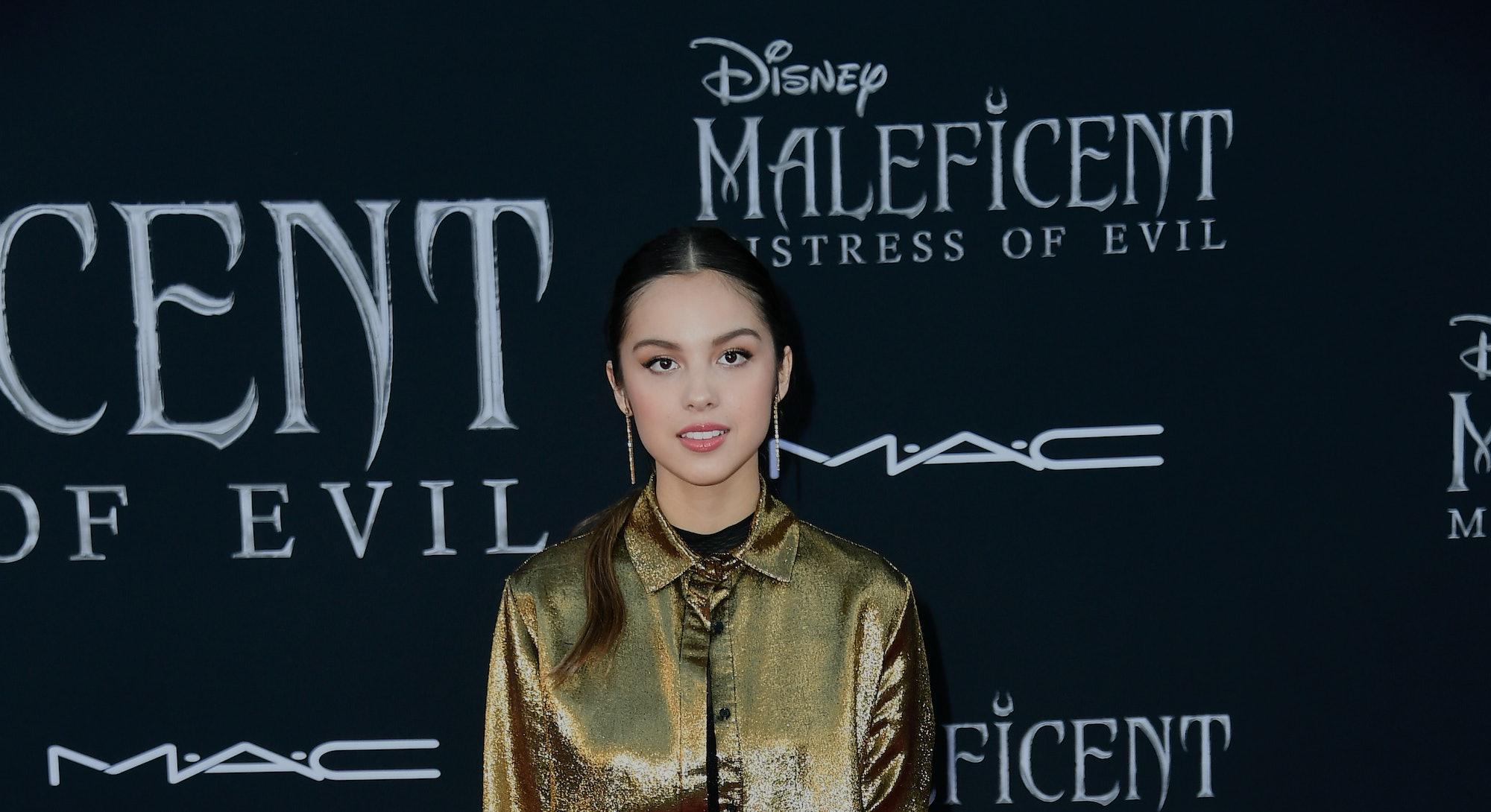 "LOS ANGELES, CALIFORNIA - SEPTEMBER 30: Olivia Rodrigo attends the World Premiere Of Disney's ""Malef..."