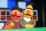 HAMBURG, GERMANY - MARCH 02: Sesame Street characters Bert and Ernie during the presentation of the NDR and Deutsche Post commemorative stamp of 'Sesamstrasse'  on March 2, 2020 in Hamburg, Germany. (Photo by Tristar Media/Getty Images)