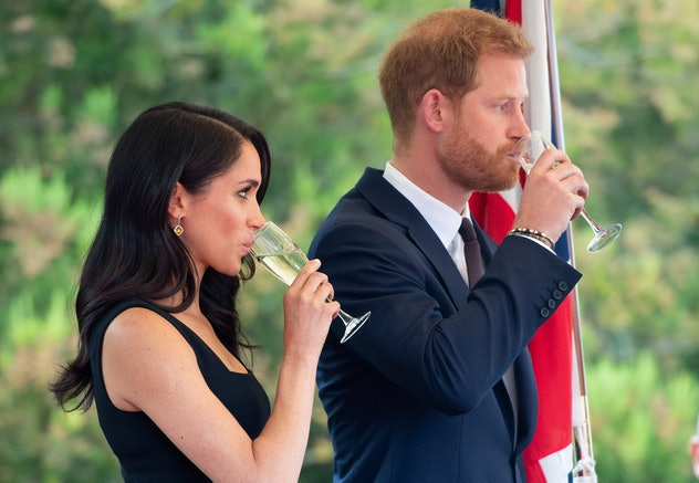 Meghan Markle and Prince Harry drink in Ireland.