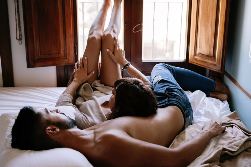 You don't need to be flexible to do the legs on shoulders sex position.