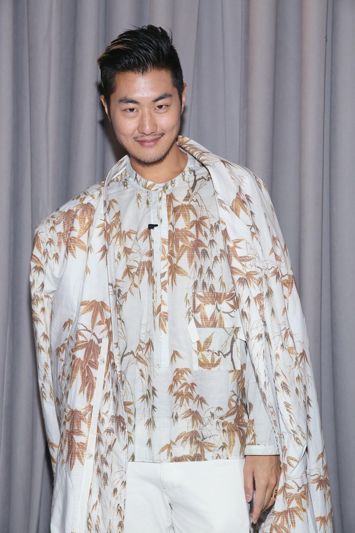 NEW YORK, NY - SEPTEMBER 16:  Fashion editor of Mashable, David Yi poses backstage at The Fat Jew fa...
