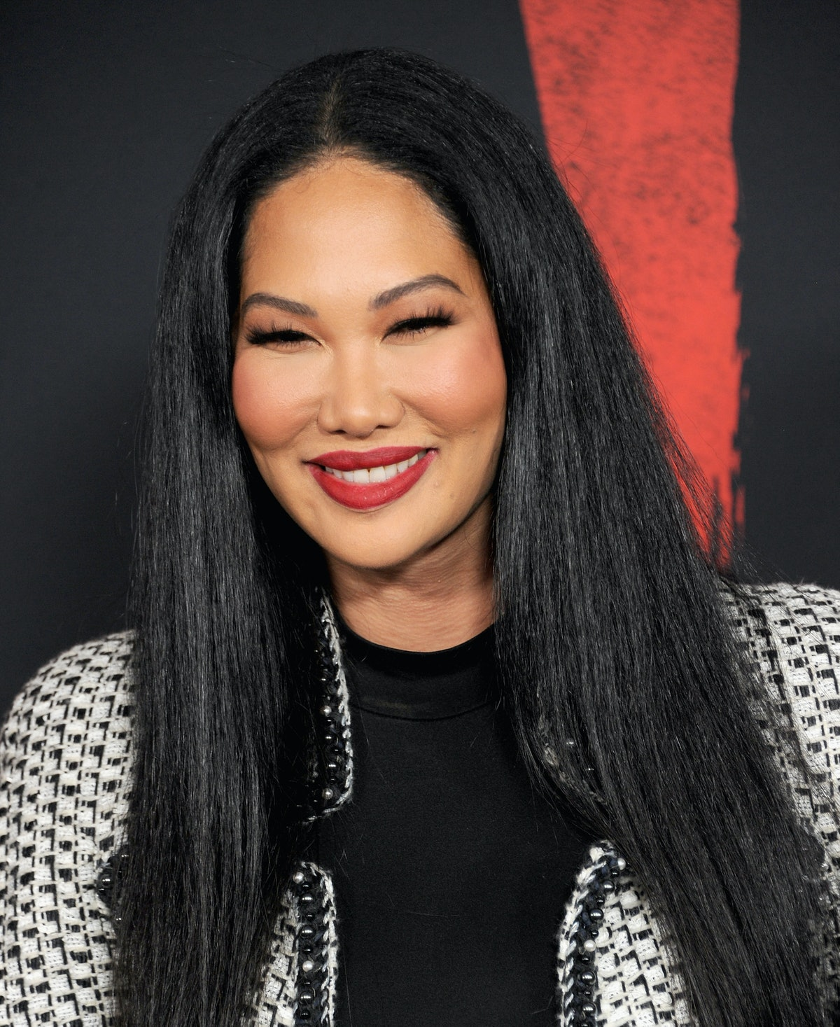 """HOLLYWOOD, CA - MARCH 09:  Kimora Lee Simmons arrives for the Premiere Of Disney's """"Mulan""""  held at ..."""