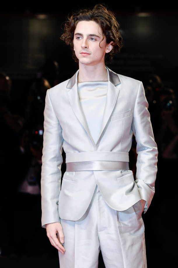 VENICE, ITALY - SEPTEMBER 2: (EDITORS NOTE: Image has been digitally retouched) Timothee Chalamet arrives at the premiere of 'The King' during the 76th Venice Film Festival on September 2, 2019 in Venice, Italy.  (Photo by Kurt Krieger/Corbis via Getty Images)