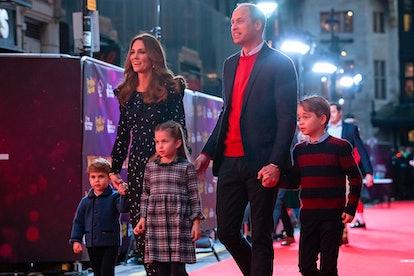 Britain's Prince William, Duke of Cambridge, his wife Britain's Catherine, Duchess of Cambridge, and...