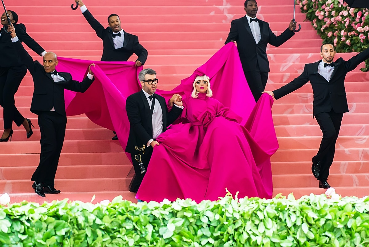 NEW YORK, NY - MAY 06:  Fashion designer Brandon Maxwell and singer-songwriter and actress Lady Gaga...