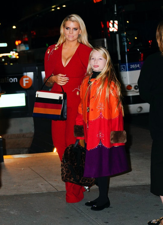 NEW YORK, NEW YORK - FEBRUARY 05: Jessica Simpson takes her daughter Maxwell out to dinner on February 05, 2020 in New York City. (Photo by Jackson Lee/GC Images)