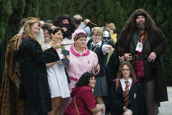 SAN DIEGO, CA - JULY 20: A Harry Potter and Fantastic Beasts cosplay meet-up at Children's Park in d...