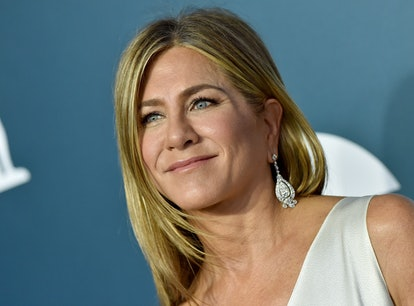 Jennifer Aniston said returning to set for the Friends reunion was emotional.
