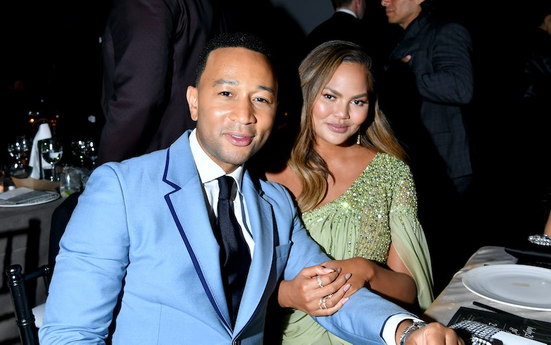 LOS ANGELES, CALIFORNIA - NOVEMBER 09: (L-R) John Legend and Chrissy Teigen attend the 2019 Baby2Baby Gala presented by Paul Mitchell on November 09, 2019 in Los Angeles, California. (Photo by Amy Sussman/Getty Images for Baby2Baby)