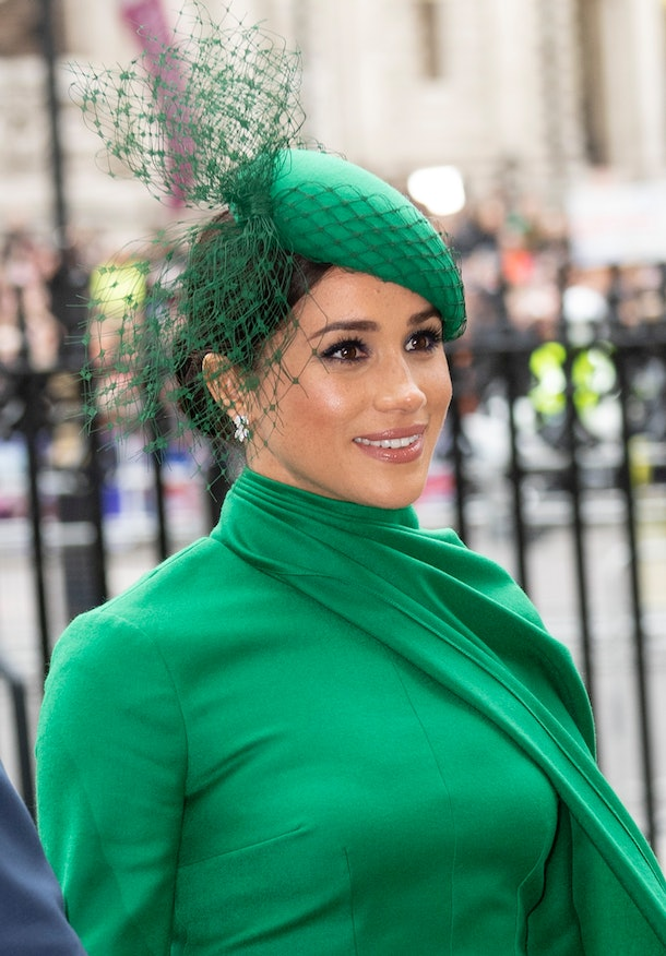 LONDON, ENGLAND - MARCH 09: Meghan, Duchess of Sussex attends the Commonwealth Day Service 2020 at Westminster Abbey on March 9, 2020 in London, England. (Photo by Mark Cuthbert/UK Press via Getty Images)