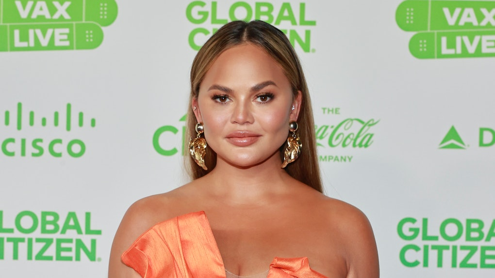 INGLEWOOD, CALIFORNIA: In this image released on May 2, Chrissy Teigen attends Global Citizen VAX LIVE: The Concert To Reunite The World at SoFi Stadium in Inglewood, California. Global Citizen VAX LIVE: The Concert To Reunite The World will be broadcast on May 8, 2021. (Photo by Emma McIntyre/Getty Images for Global Citizen VAX LIVE)