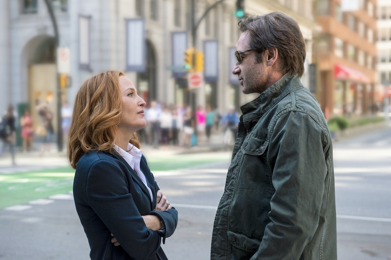 THE X-FILES:  L-R:  Gillian Anderson as Dana Scully and David Duchovny as Fox Mulder.  The next mind...