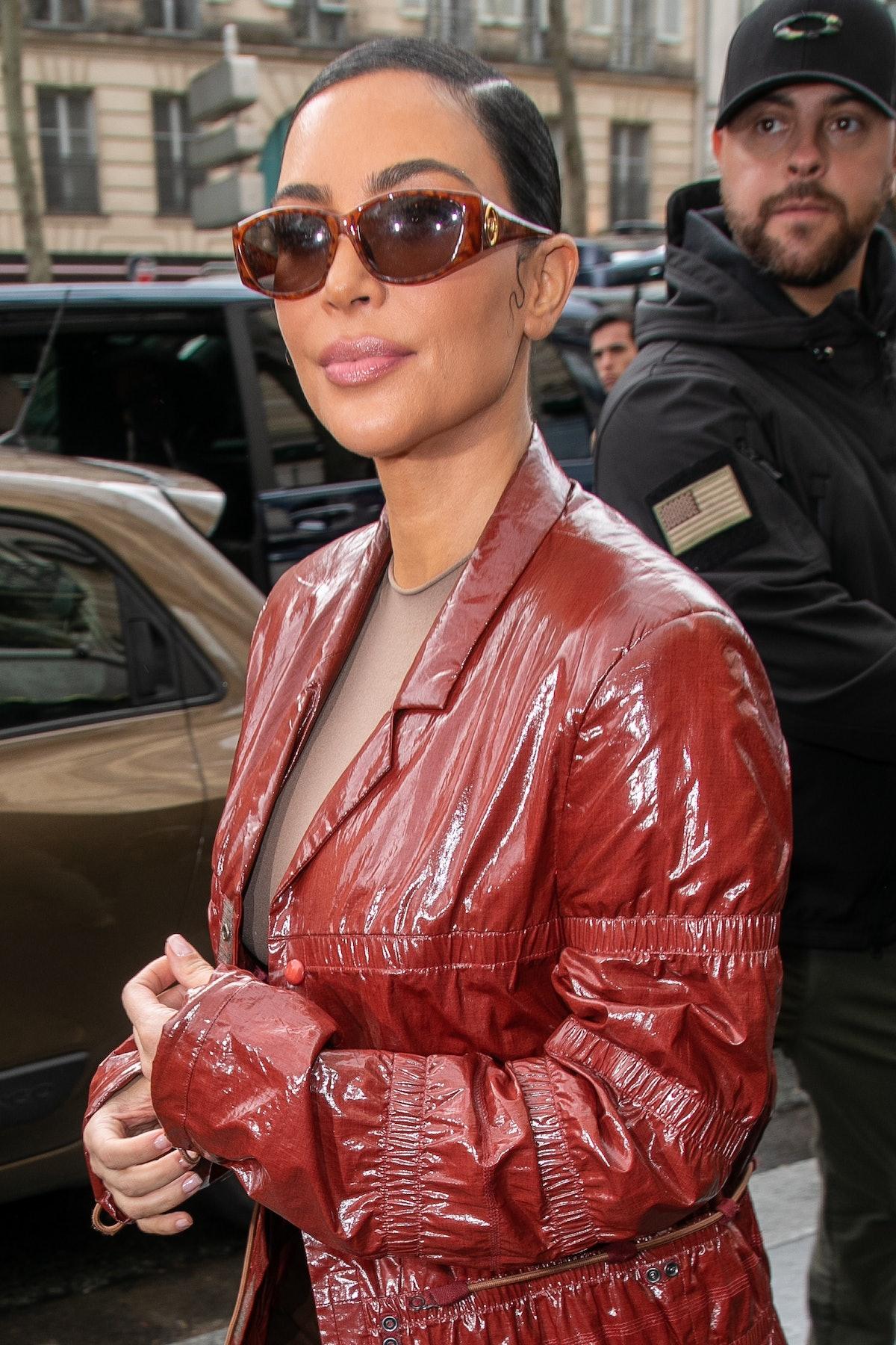 PARIS, FRANCE - MARCH 02: Kim Kardashian West arrives at Cafe de Flore restaurant on March 02, 2020 in Paris, France. (Photo by Marc Piasecki/GC Images)