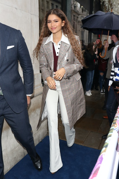LONDON, ENGLAND - MARCH 03:  Zendaya arrives at the Tommy Hilfiger Regents store for the Tommy Hilfiger X Zendaya event on March 03, 2019 in London, England. (Photo by Neil Mockford/GC Images)