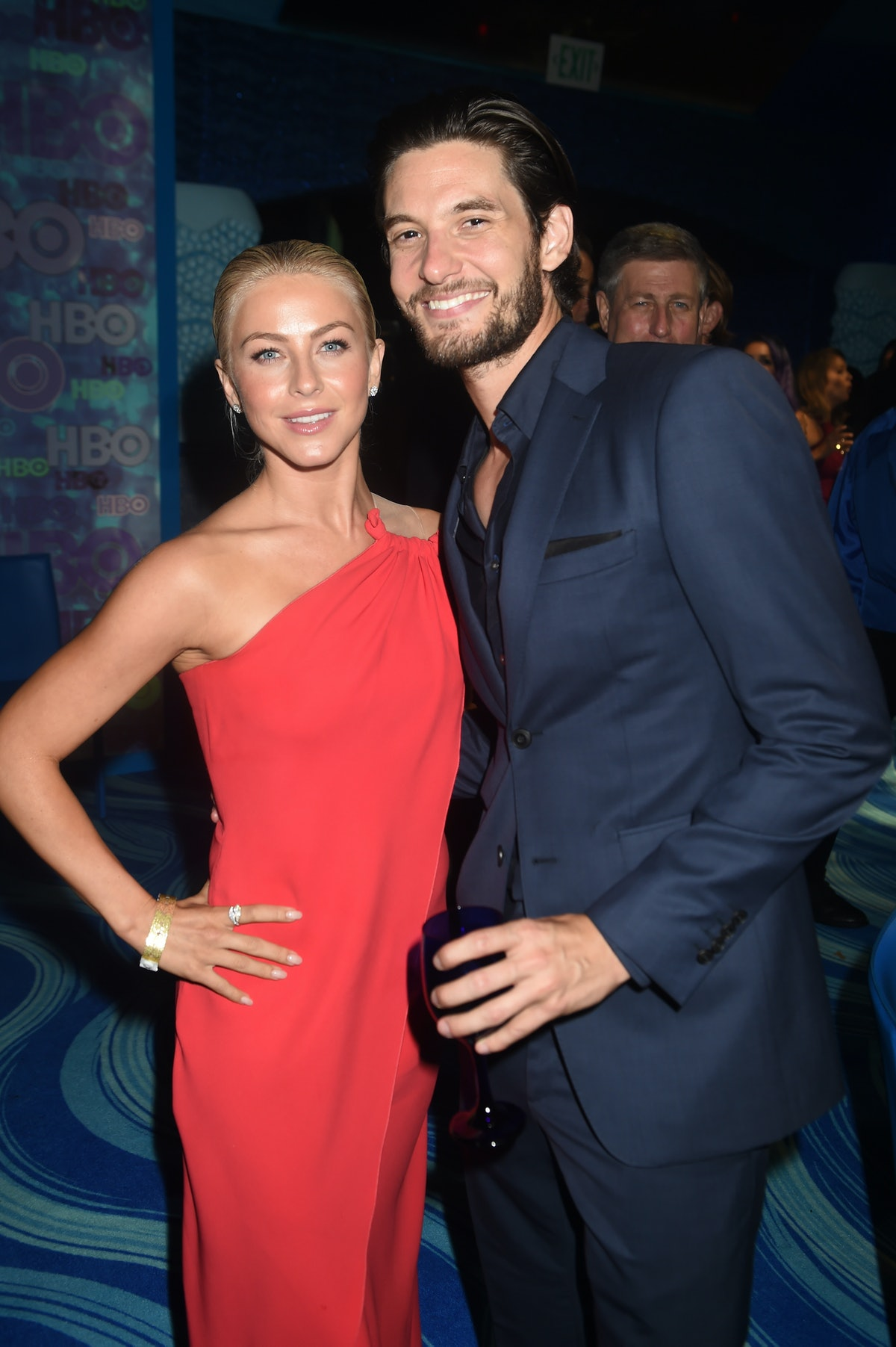 LOS ANGELES, CA - SEPTEMBER 18: Actors Julianne Hough (L) and Ben Barnes attend HBO's Official 2016 Emmy After Party at The Plaza at the Pacific Design Center on September 18, 2016 in Los Angeles, California.  (Photo by Jeff Kravitz/FilmMagic)