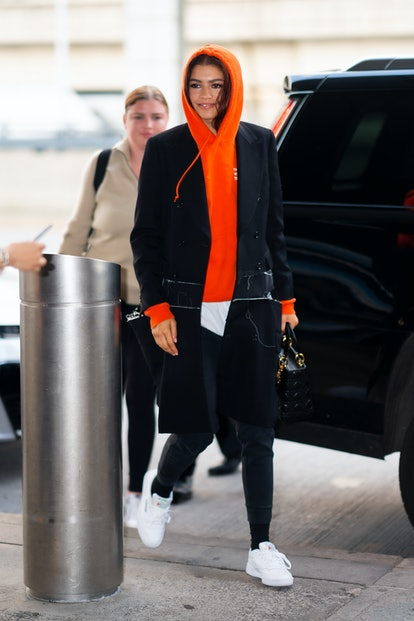 NEW YORK, NEW YORK - JUNE 25: Zendaya is seen at JFK Airport in Queens on June 25, 2019 in New York City. (Photo by Gotham/GC Images)