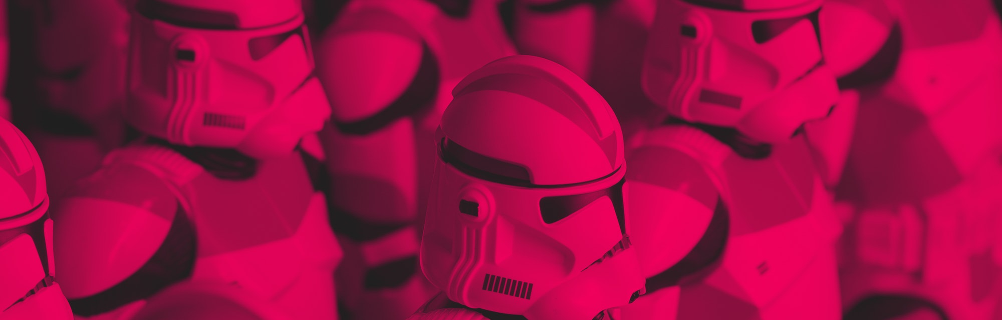 ANAHEIM, CA - AUGUST 18: Clone Troopers used to produce commissioned fan art by Paul Otaguro of Fact...