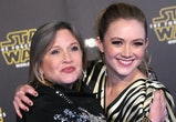 Billie Lourd and her baby boy paid tribute to her mom for 'Star Wars.'