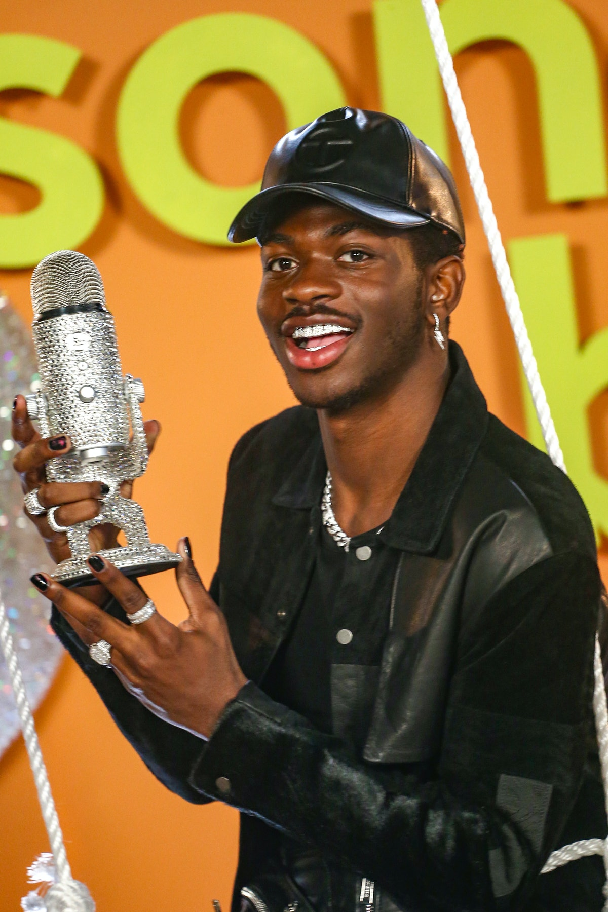 LOS ANGELES, CALIFORNIA - MARCH 13: Lil Nas X poses as Logitech Celebrates Creators With First-Ever Song Breaker Awards at Hubble Studio on March 13, 2021 in Los Angeles, California. (Photo by Tommaso Boddi/Getty Images for Logitech)