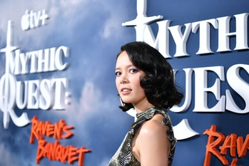 """LOS ANGELES, CALIFORNIA - JANUARY 29: Charlotte Nicdao attends the premiere of Apple TV+'s """"Mythic Q..."""