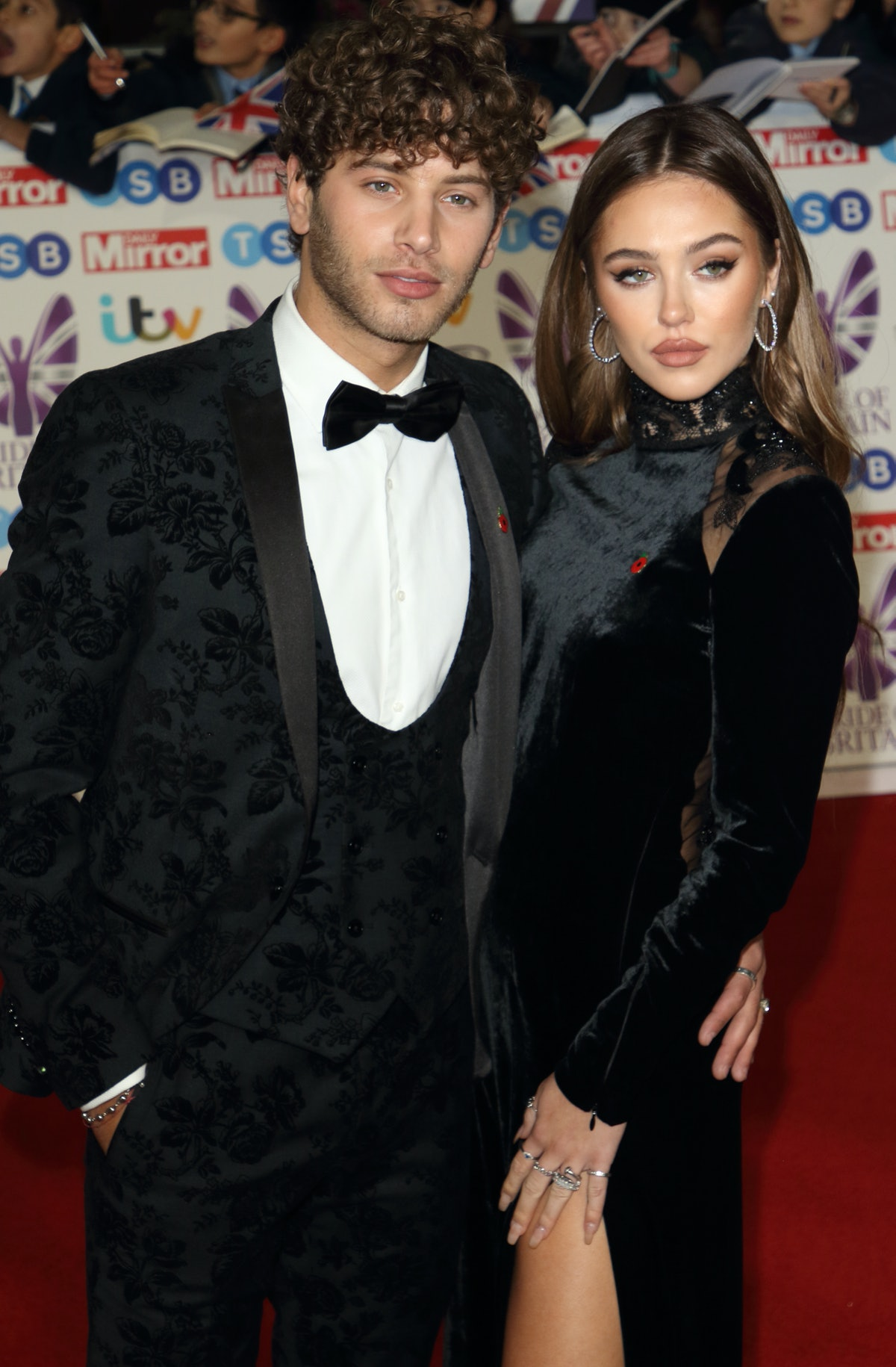 LONDON, -, UNITED KINGDOM - 2019/10/28: Eyal Booker and Delilah Hamlin on the red carpet at The Daily Mirror Pride of Britain Awards, in partnership with TSB, at the Grosvenor House Hotel, Park Lane. (Photo by Keith Mayhew/SOPA Images/LightRocket via Getty Images)