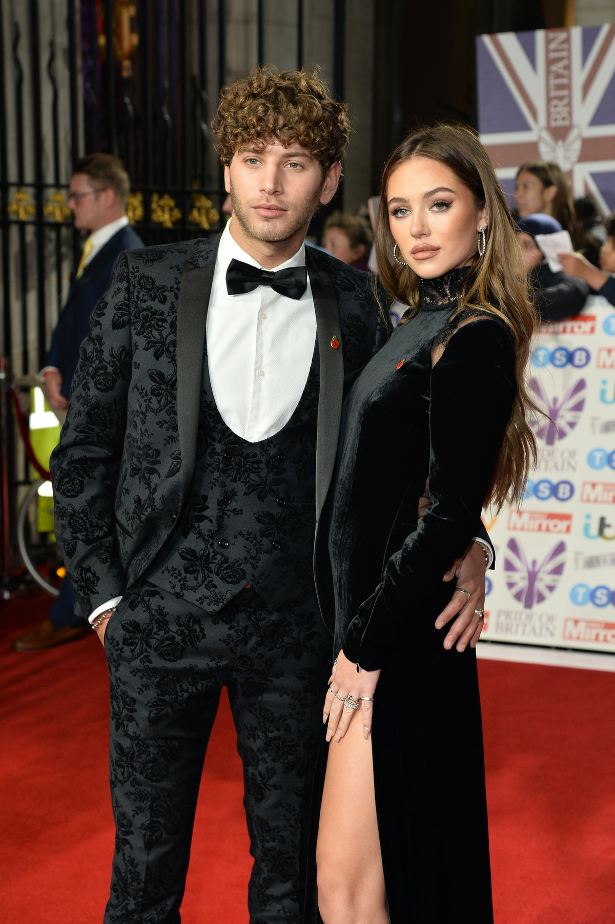 LONDON, ENGLAND - OCTOBER 28: (L-R) Eyal Booker and Delilah Hamlin attend Pride Of Britain Awards 2019 at The Grosvenor House Hotel on October 28, 2019 in London, England. (Photo by Jeff Spicer/Getty Images)