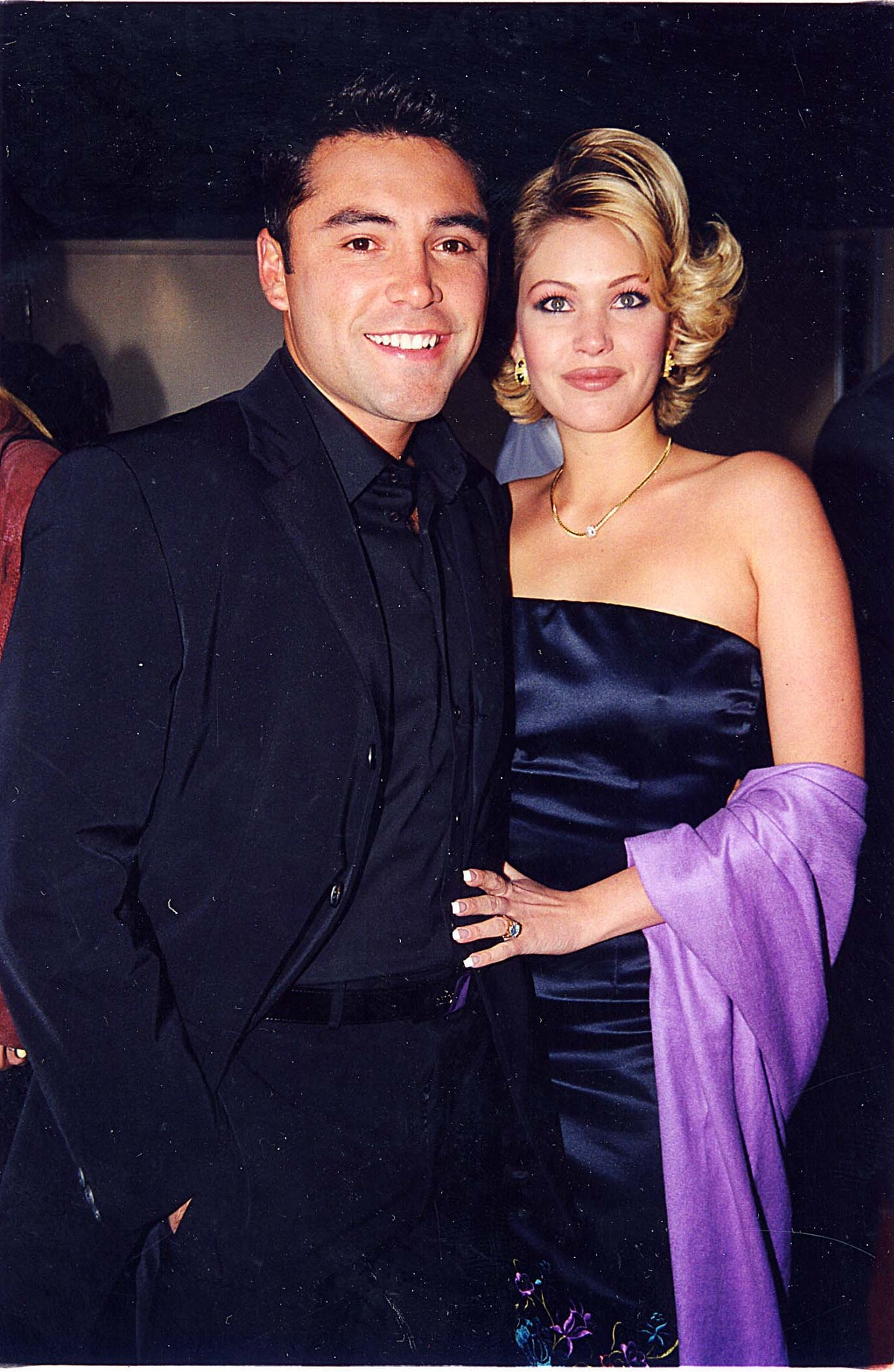 Oscar de la Hoya & Shanna Moakler during 1999 Billboard Awards in Las Vegas, Nevada, United States. (Photo by Jeff Kravitz/FilmMagic, Inc)