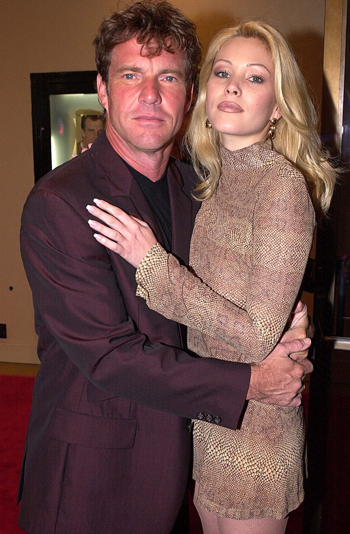 Dennis Quaid and Shanna Moakler during HBO Dinner With Friends. (Photo by Jeff Kravitz/FilmMagic)