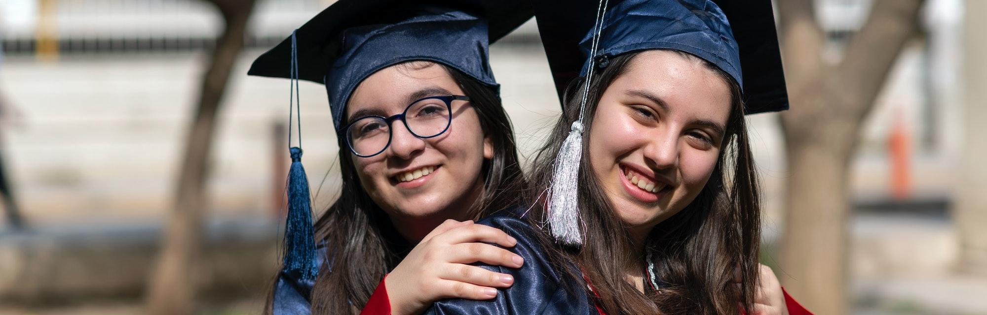 Gratuated student girls