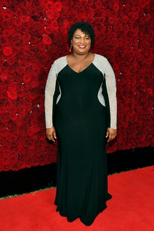 ATLANTA, GEORGIA - OCTOBER 05: Stacey Abrams attends Tyler Perry Studios grand opening gala at Tyler...