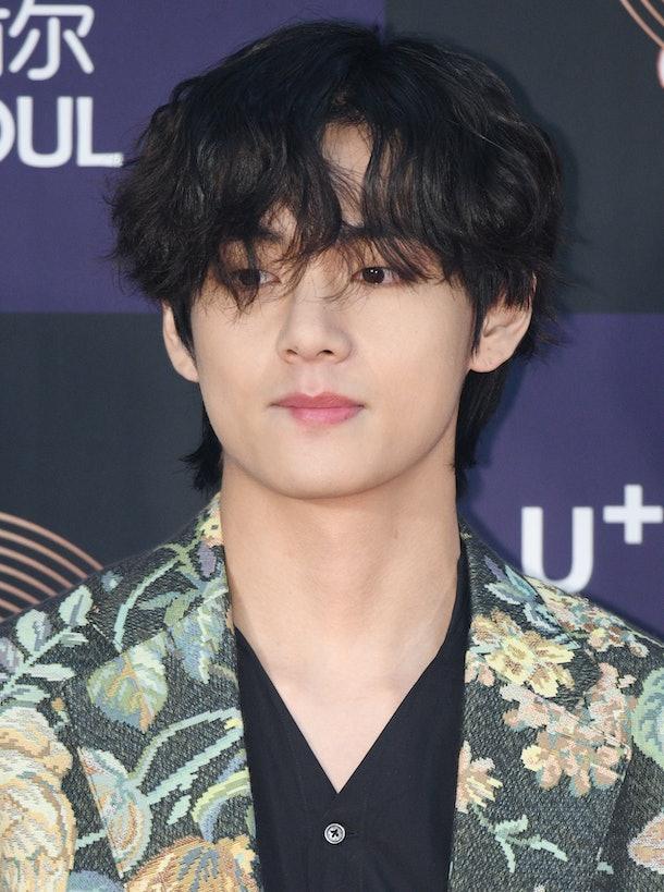 SEOUL, SOUTH KOREA - JANUARY 05: Kim Tae-Hyung of Bangtan Boys arrives at the photocall for the 34th Golden Disc Awards on January 05, 2020 in Seoul, South Korea. (Photo by The Chosunilbo JNS/Imazins via Getty Images)