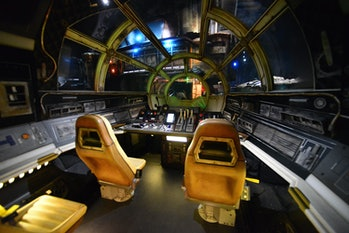 ORLANDO, FLORIDA - AUGUST 27: General view of the Millennium Falcon: Smugglers Run ride at the Star Wars: Galaxy's Edge Walt Disney World Resort Opening at Disney's Hollywood Studios on August 27, 2019 in Orlando, Florida. (Photo by Gerardo Mora/Getty Images)