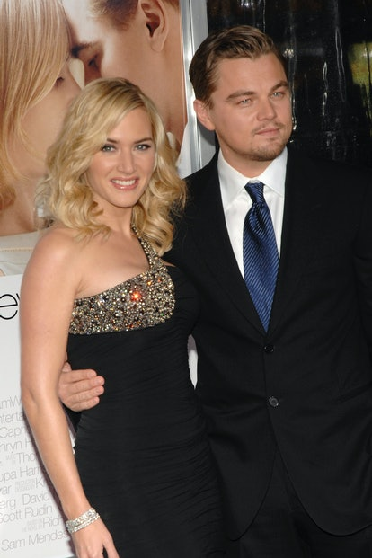 """WESTWOOD, CA - DECEMBER 15: Kate Winslet and Leonardo DiCaprio attend """"Revolutionary Road"""" Los Angeles Premiere at Mann Village Theater on December 15, 2008 in Westwood, Ca. (Photo by ANDREAS BRANCH/Patrick McMullan via Getty Images)"""