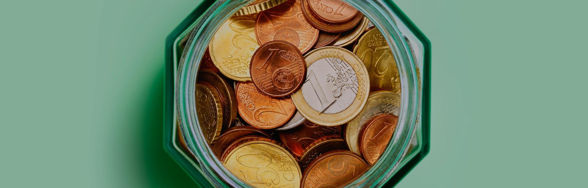 Jar full of change