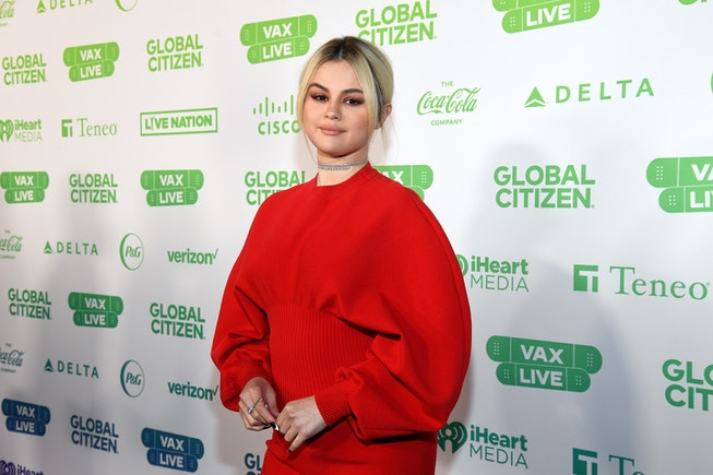 INGLEWOOD, CALIFORNIA: In this image released on May 2, Selena Gomez attends the Global Citizen VAX LIVE: The Concert To Reunite The World at SoFi Stadium in Inglewood, California. Global Citizen VAX LIVE: The Concert To Reunite The World will be broadcast on May 8, 2021. (Photo by Kevin Mazur/Getty Images for Global Citizen VAX LIVE)